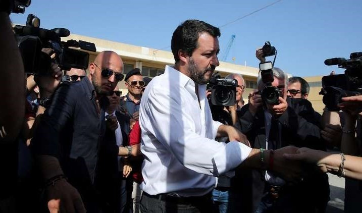 نتيجة بحث الصور عن وزير الداخلية الإيطالي ماتيو سالفيني يزور ليبيا